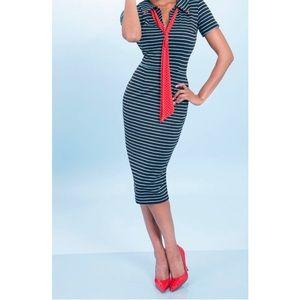 Tatyana Waves 50's Pencil Dress
